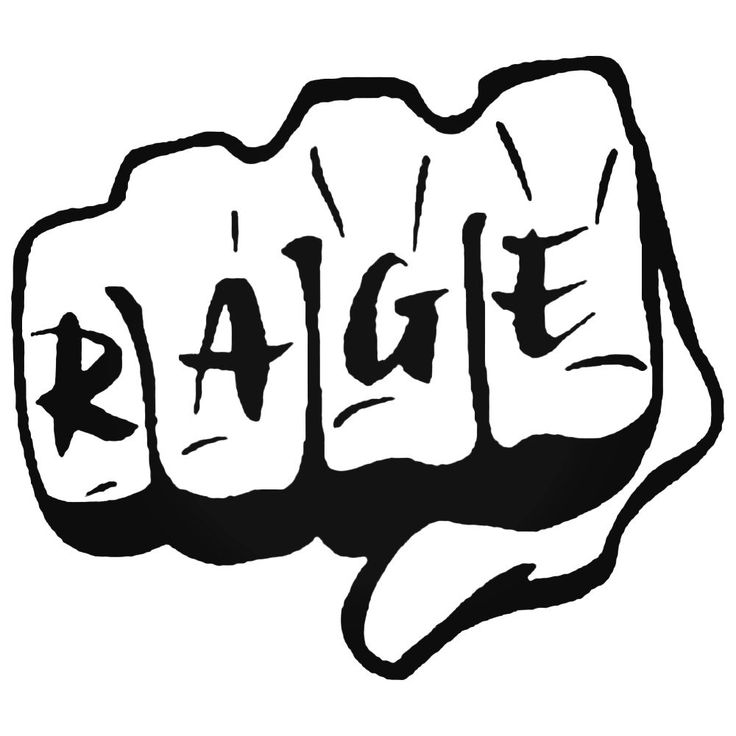 Mma Fist Rage Ufc Decal Sticker  BallzBeatz . com