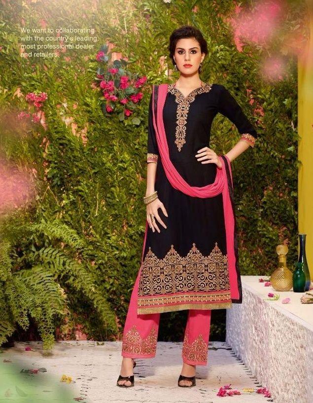 Designer Fastrack Cotton Embroidered #Unstitched #SalwarSuit.at Glamzon Visit- http://www.glamzon.com/Designer-Unstitched-catid-414883-page-1.html
