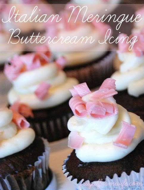 Italian Meringue Buttercream Icing This is one of the most gourmet, decadent icing recipes you'll ever find. It's also one of the lowest sugar, with a little protein to boot.
