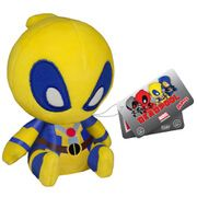 Mopeez Marvel Yellow Deadpool Figure From the Marvel Universe, Yellow Deadpool, as a travel sized plush Mopeez from Funko! Plush stands 4.5 inches. Check out the other Mopeez from Funko! Collect them all!. (Barcode EAN=0849803074630) http://www.MightGet.com/march-2017-1/mopeez-marvel-yellow-deadpool-figure.asp