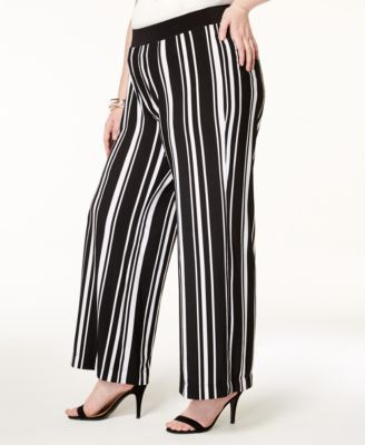 8560020bc62a INC International Concepts Plus Size Striped Wide-Leg Pants, Created for  Macy's $79.50 A swingy pair of plus size wide-leg pants from INC  International ...