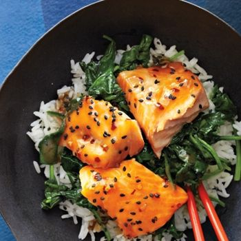 Asian Salmon Bowl with Lime Drizzle 68mg chol