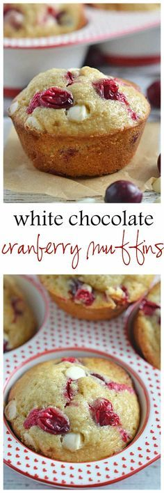 Sweet white chocolate chips pair perfectly with the tartness of the berries in these White Chocolate Cranberry Muffins. | muffins | homemade muffins | brunch recipes | cranberry muffins | breakfast muffins || Kitchen Meets Girl #muffins #breakfast #brunch
