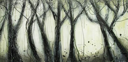 Orange Art Gallery - Julie Berthelot - In the Rain ; Purchase Online. Art. Urban Nature. Forest . Painting