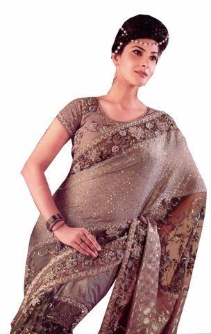 Fashion sari designer Meera Gris 105€ au lieu de 180€ #soldeshiver