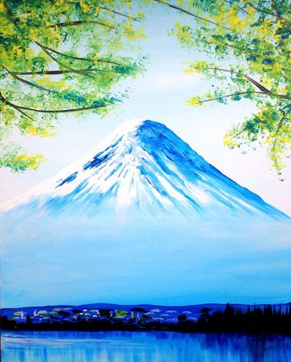 60 Easy And Simple Landscape Painting Ideas Landscape Paintings Abstract Art Painting Cool Landscapes