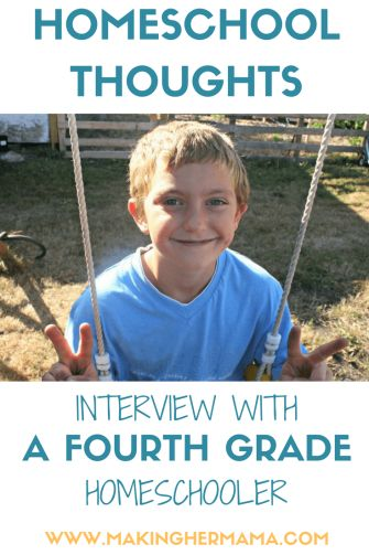 Interview with a fourth grade homeschooler: What he really thinks about homeschooling. Have you ever wondered what homeschoolers know about homeschooling and what they think about their education? Come find out what my now 9 year old has to say about it!