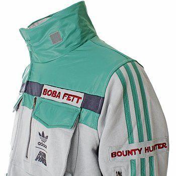 Xile Clothing - Adidas Star Wars Tracktops: ADIDAS STAR WARS - BOBA FETT TRACK TOP (9653)