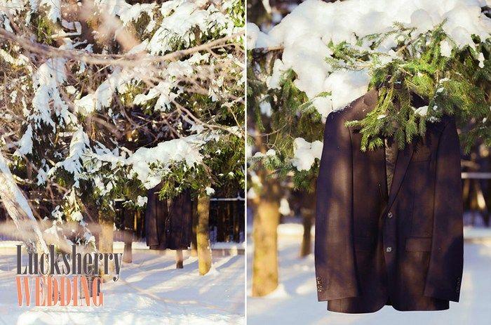 Preparing for a winter wedding groom - подготовка жениха к зимней свадьбе.