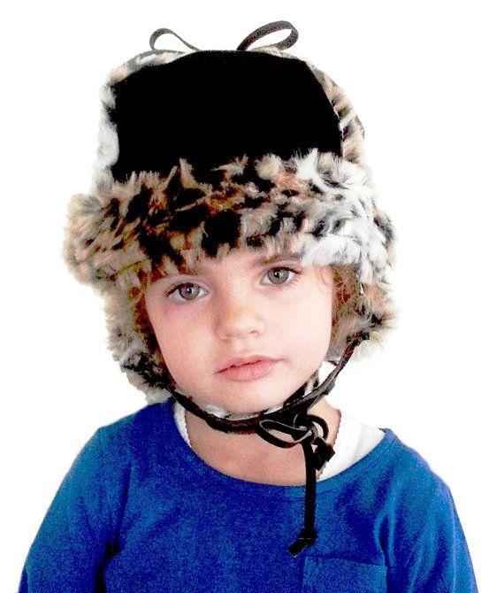 Shmooty ShapTok  bonnet chapka toque En cuir Nubuk par shmootytab