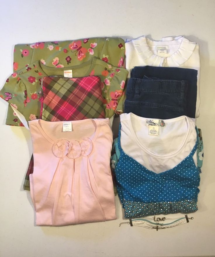 Preowned Girls Lot Of 7 Size 10 Gymboree, Crew Cuts, Cherokee    eBay
