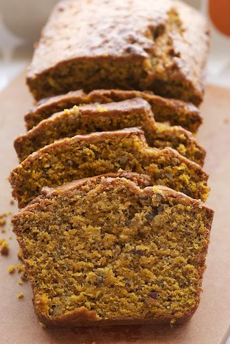 Pumpkin-Pecan Bread Recipe ~ Says: this bread is good. More than good. It's delicious! It's packed with brown sugar, pecans, spices – that complement the pumpkin and make this a great fall quick bread.