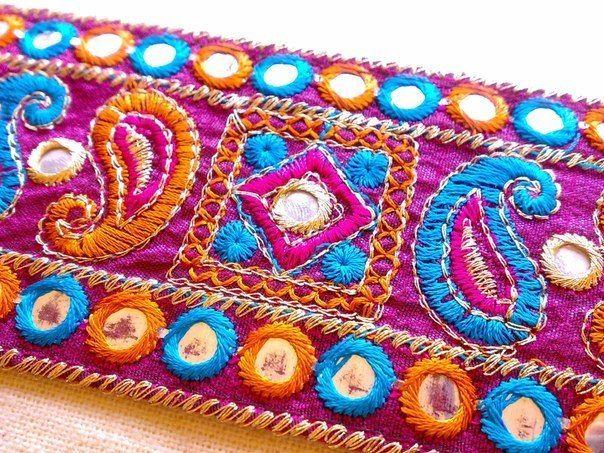 Блистательная «shisha» — традиционная индийская вышивка с зеркалами - ЯМ