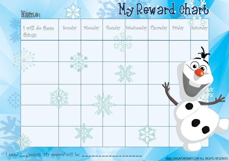 Frozen Reward Chart Olaf Download The Free Printable Pdf