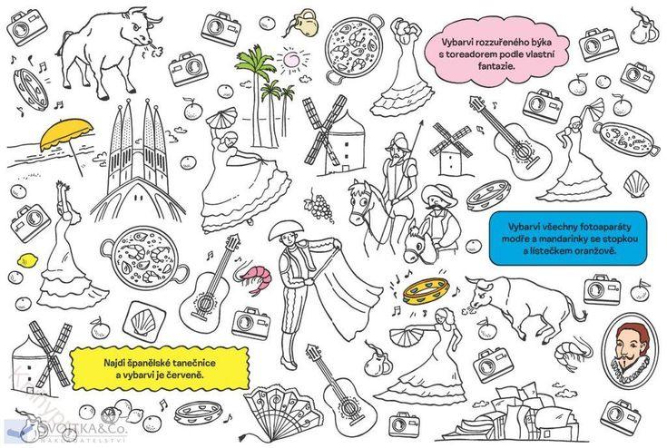 MALOVÁNÍ, KRESLENÍ | Hledej a vybarvuj Cesta kolem světa | Knihypro - dětské knihy