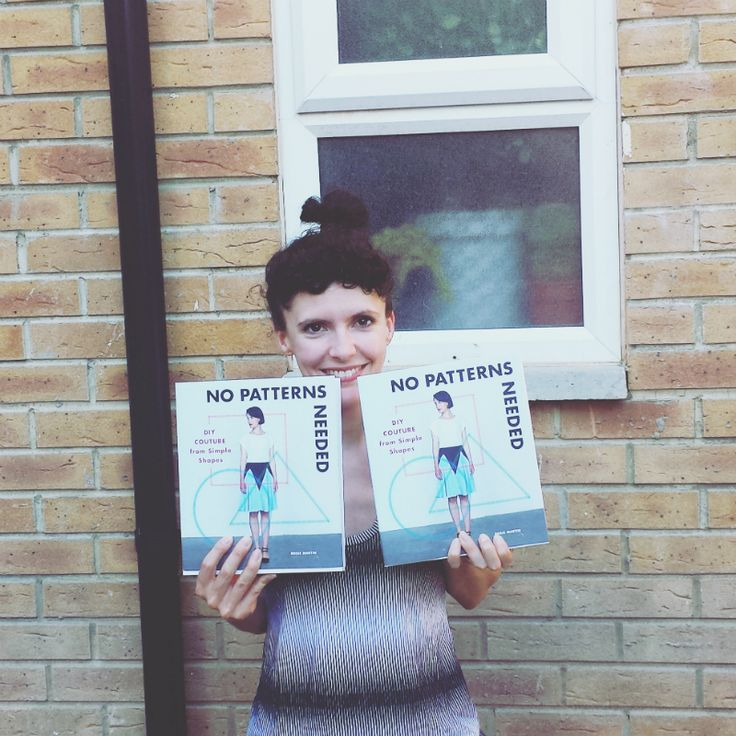 Author Rosie Martin holds two copies of her book No Patterns Needed