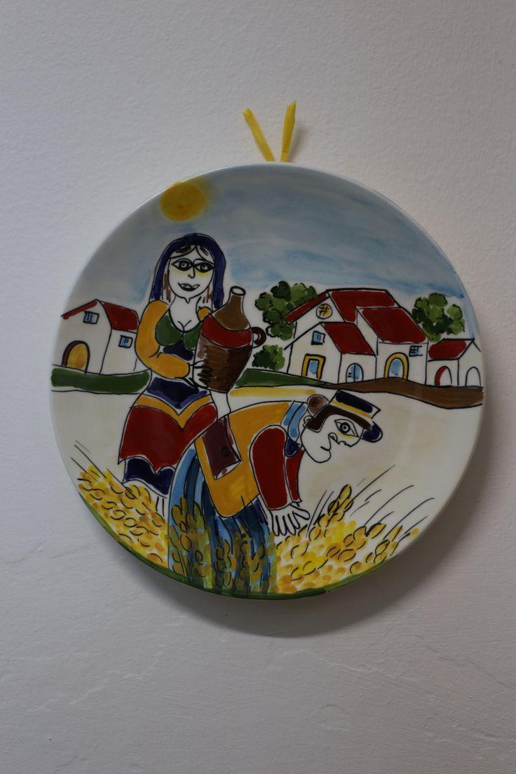 piatto diametro cm 25 - scene contadine