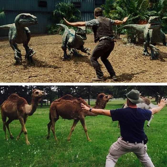 Jurassic World camels #JurassicZoo #JurassicPark #scifi #sciencefiction #art