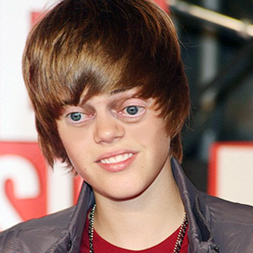 Bieber with Steve Buscemi eyes