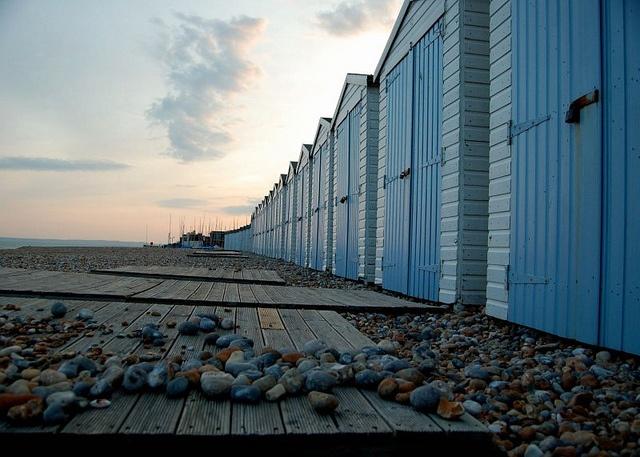 Bexhill on sea beach huts