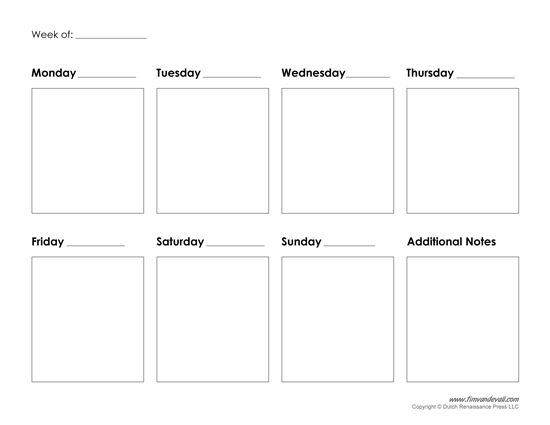25+ unique Weekly calendar template ideas on Pinterest Calendar - blank calendar templates