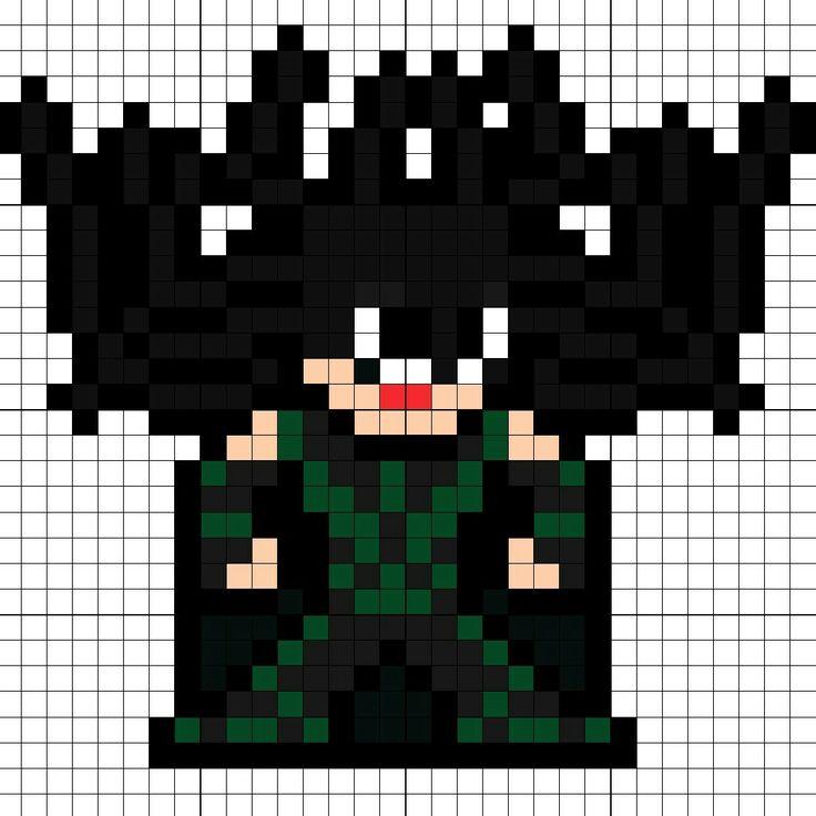 Hela Thor Ragnarok Perler Bead Pattern
