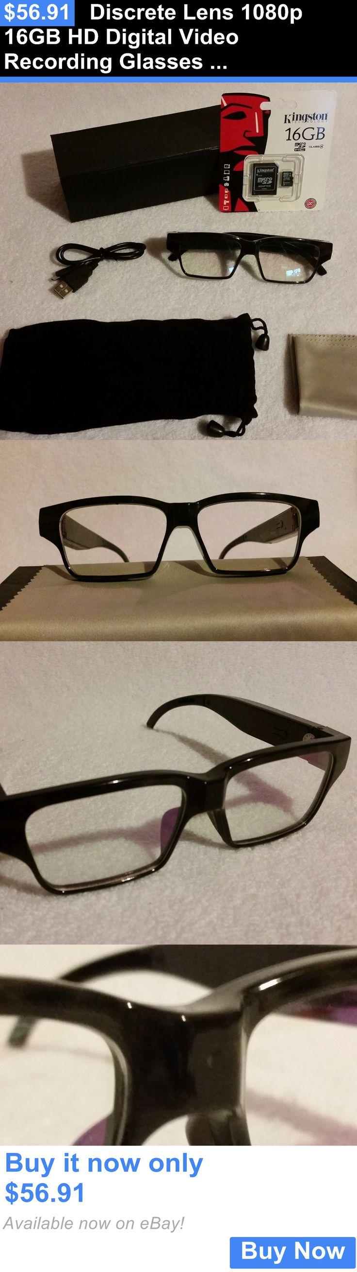 Digital Video Recorders Cards: Discrete Lens 1080P 16Gb Hd Digital Video Recording Glasses Hidden Camera Spy 1 BUY IT NOW ONLY: $56.91