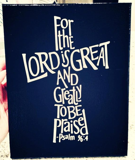 8x10 For the Lord is Great Cross Canvas Art by KraftsbyKatieHill, $30.00