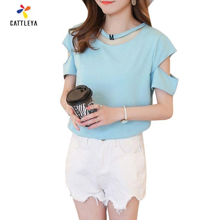 >> Click to Buy << Summer 2017 T-Shirt Top Women Sexy Hollow Out T Shirt Korean Tops Women Short Sleeve T-shirts Harajuku T-shirt Plus Size XL #Affiliate
