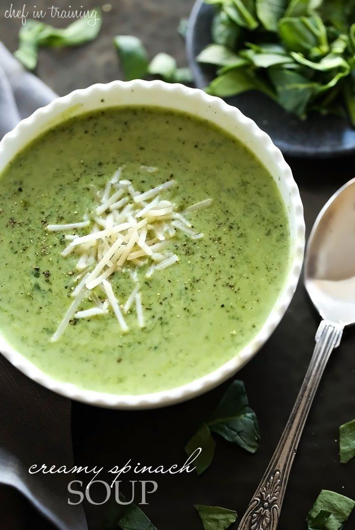 Creamy Spinach Soup @FoodBlogs