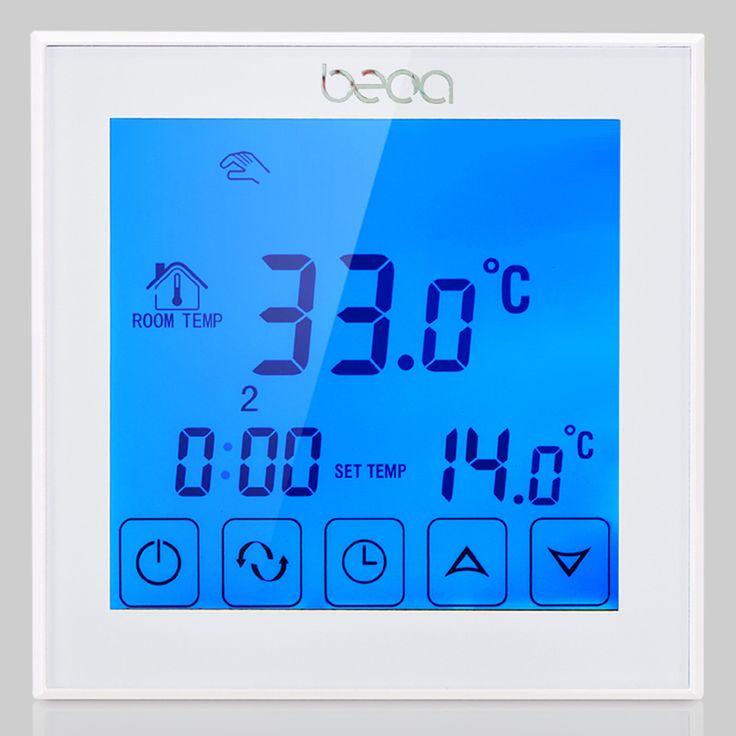 Underfloor Heating Thermostat,BECA 16A 220VAC Weekly Programmable Electric Floor Heating Thermostat
