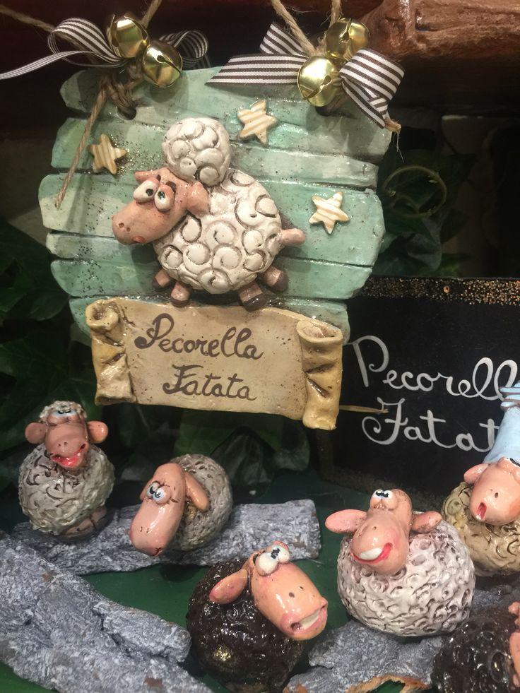 Pecorelle fatate ,ceramica