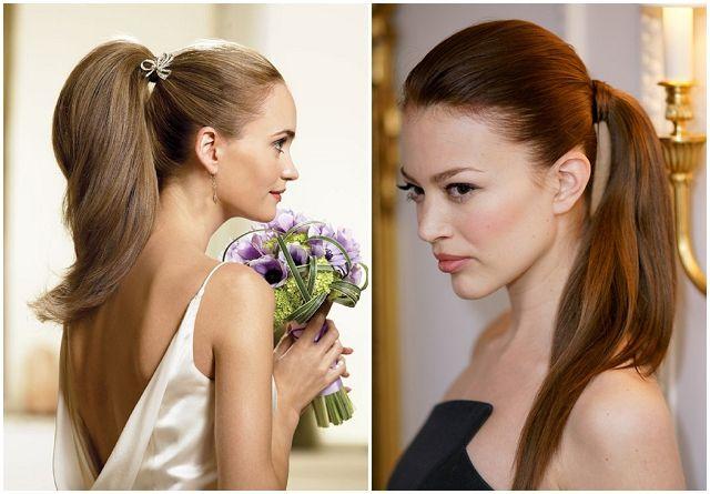 Bridal Hair Trends 2013- sophisticated ponytails