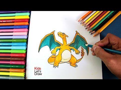 Cómo dibujar y colorear a CHARIZARD (Pokémon GO) | How to draw Charizard (Pokemon GO)