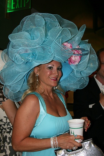 I'd have to do it in pink... just sayin. Kentucky Derby Turquoise Hat of the Day! Make your own creative hat with the help of decorative mesh from Old Time Pottery!
