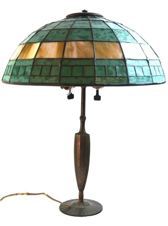Tiffany studios 616 stained glass lamp