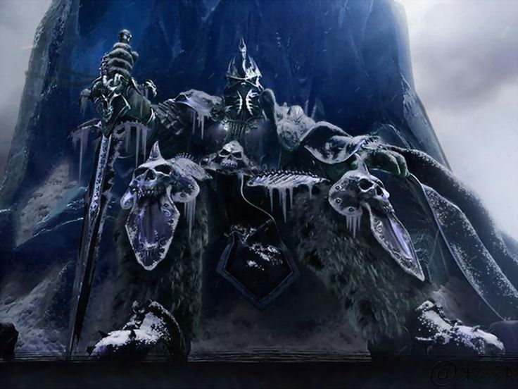 Soberbia. The Lich King, Warcraft III Frozen Throne sketch