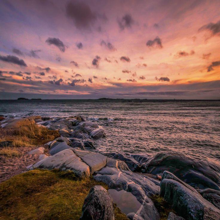 Harmony part IV - Beautiful sunset in Hanko beach, Finland.