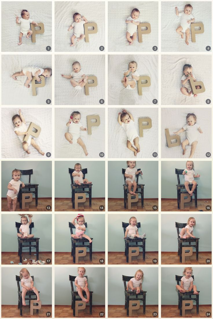 2-years old already? Once a month photos to track growth of my baby girl /