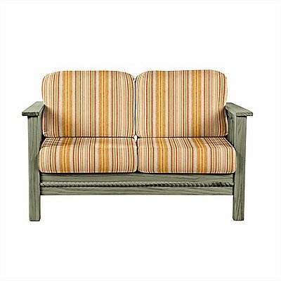 This Cottage Loveseat features simple lines enhanced by rope molding. Choose a stain to create your own decor. Add this loveseat to your existing living room, or match it with our Cottage collection for a look of coordinated sophistication. Furniture for your life!