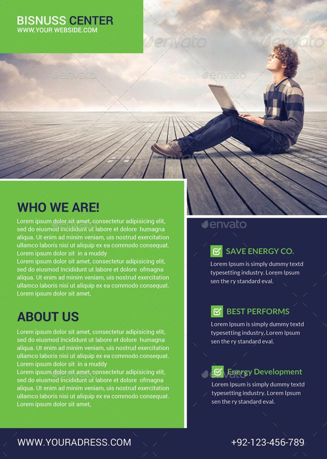 Corporate Business Flyer Template #Business, #Corporate, #Template