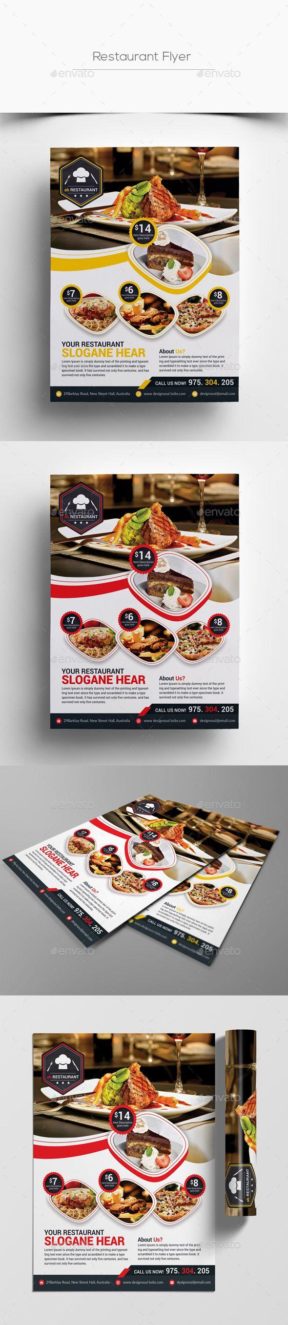 Restaurant Flyer Template PSD. Download here: https://graphicriver.net/item/restaurant-flyer/17460826?ref=ksioks