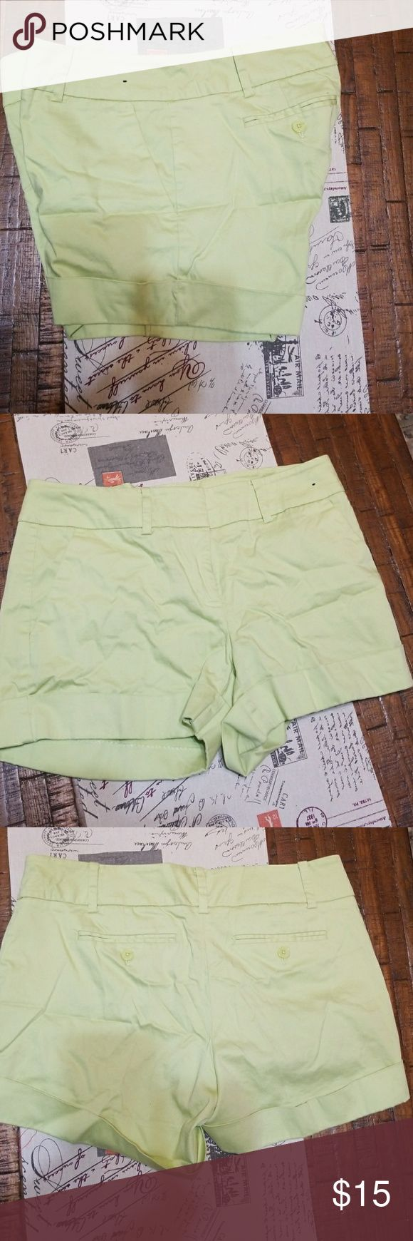 Casual shorts. Lime green with leg cuff & pockets Casual Lime green shorts with leg cuff a d pockets New York & Company Shorts