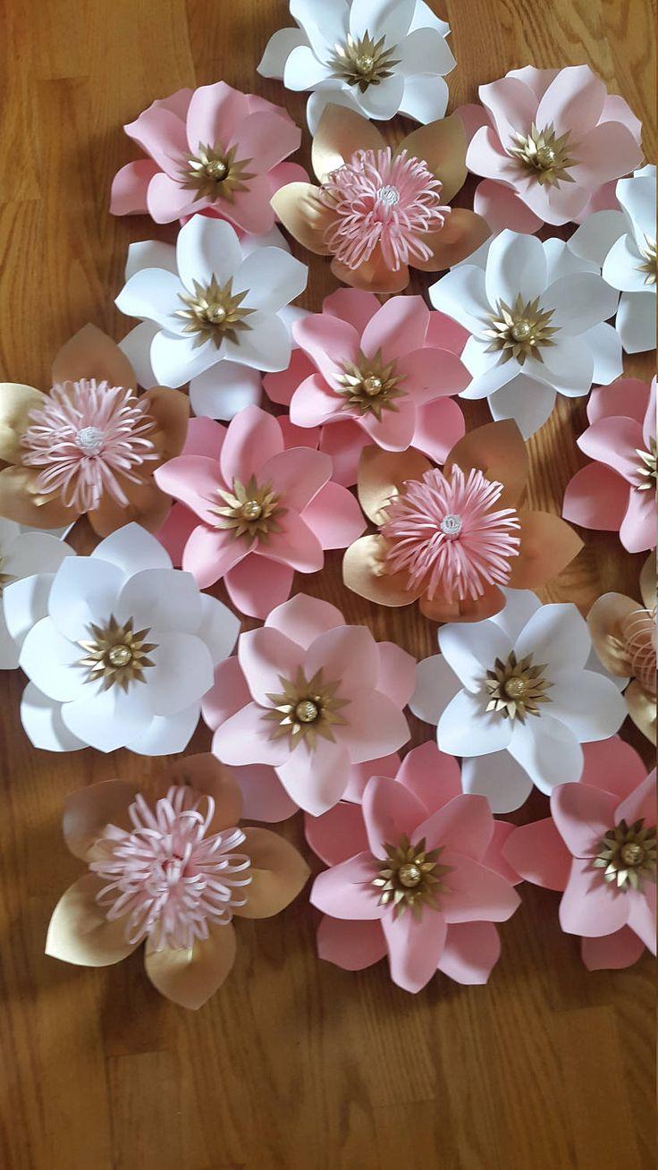 Fondo de flor de papel decoración de la flor de papel flores