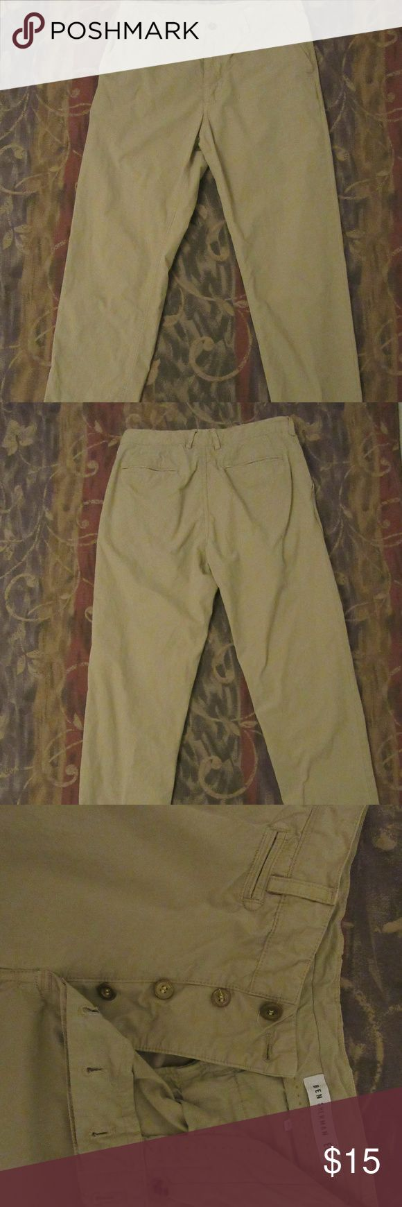 MENS BEN SHERMAN EC1 CHINO PANTS SZ 31X31 STONE good shape: has some marks seen in pics ,could be spot washed   MENS BEN SHERMAN EC1 CHINO PANTS SZ 31X31 STONE Ben Sherman Pants Chinos & Khakis