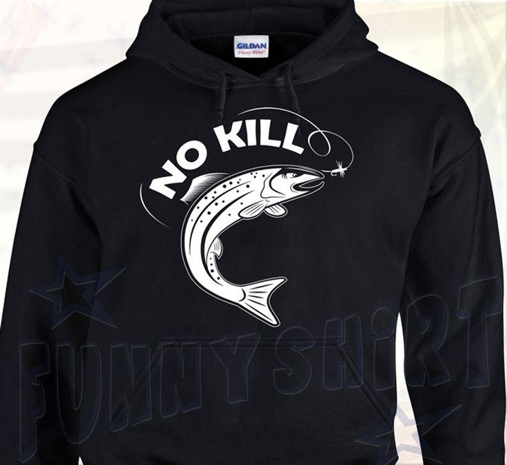 Sweat à capuche No Kill Truite - Pêche Sportive Fête des Pères Cadeau : Pulls, gilets, sweats par funny-shirt