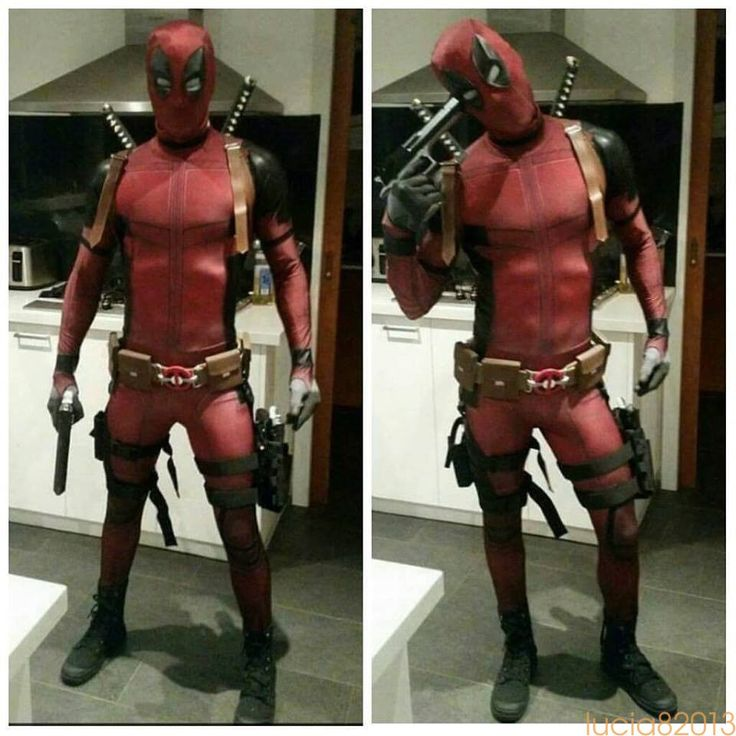 2017 Lycra Spandex Full Body Deadpool Costume £13.99 - Free Postage