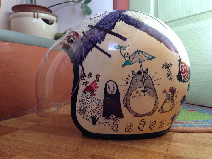 Totoro helmet graphics