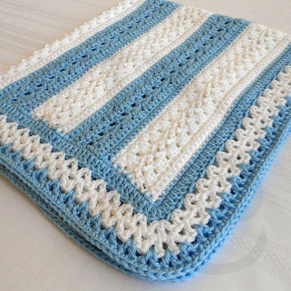Crochet Pattern - Fairfax Baby Afghan Pattern - Babyghan Afghan - Baby Blanket…