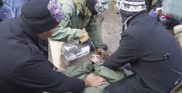 Video: Police Crash Protest to Stop Voluntary Waterboarding